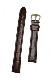 Hirsch 'LouisianaLook' M Brown Leather Strap, 12mm