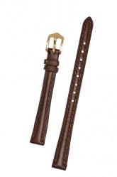 Hirsch 'Camelgrain' 12mm Brown Leather Strap