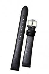 Hirsch 'Cashmere-aloe vera' graphite Leather Strap, 14mm