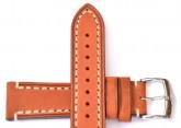 Hirsch 'Liberty' 20mm Golden Brown Leather Strap