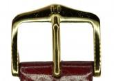 Hirsch 'Siena' M Burgundy, 18mm  Tuscan Leather Strap