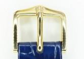 Hirsch 'LouisianaLook' Blue Leather Strap, 22mm