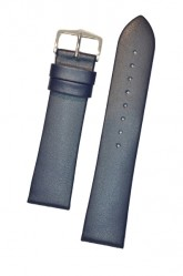 Hirsch 'Diamond calf'' Blue Leather Strap,L, 22mm