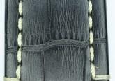 Hirsch 'Knight' 28mm Black Leather Strap