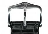 Hirsch 'LouisianaLook' Black Leather Strap, 20mm