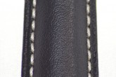 Hirsch 'Heavy Calf' 22mm Black Leather Strap