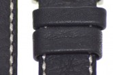 Hirsch 'Mariner' 20mm Black Leather Strap