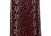 Hirsch 'Osiris' Burgundy Leather Strap, 12mm