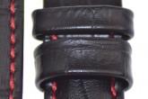 Hirsch 'Grand Duke' High Tech 22mm Black Leather Strap