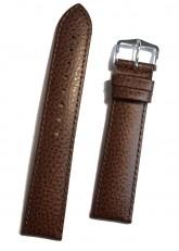 Hirsch 'Kansas' Brown Calf Leather Strap, 20mm