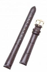 Hirsch 'Duke' Dark Brown Leather Strap, 14mm