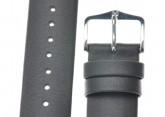 Hirsch 'Scandic' L Grey leather watch strap, 18mm