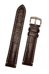Hirsch 'Viscount' Brown Leather Strap, 24mm