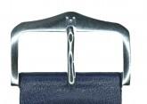 Hirsch 'Scandic' L Blue leather watch strap, 24mm
