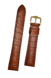 Hirsch 'London' L Golden Brown Leather Strap, 20mm