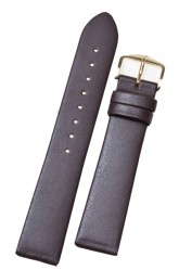 Hirsch 'Diamond calf'' brown Leather Strap, 20mm
