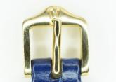 Hirsch 'LouisianaLook' M Blue Leather Strap, 14mm