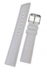 Hirsch 'Princess' White Leather Strap, 16mm