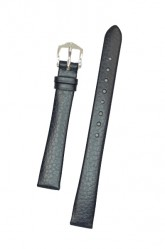 Hirsch 'Dakota' 12mm Blue Leather Strap,M