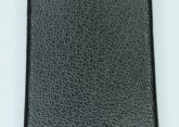 Hirsch 'Diamond calf'' Black Leather Strap,L, 18mm