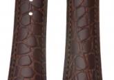Hirsch 'Aristocrat' 20mm Brown Leather Strap