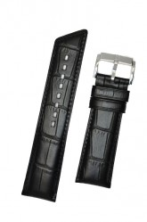 Hirsch 'Princess' Black Leather Strap, 20mm