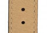 Hirsch 'Crocograin' Long Black Leather Strap, 18mm