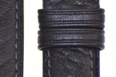 Hirsch 'CamelGrain' Black Leather Strap, 12mm