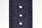 Hirsch 'Osiris' Navy blue, leather watch strap 18mm