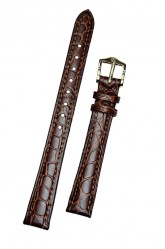 Hirsch 'Aristocrat' 12mm Brown Leather Strap