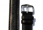 Hirsch 'Merino-Artisan' Black Leather Strap, 20mm