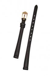 Hirsch 'Camelgrain' 10mm Black Leather Strap