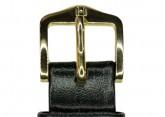 Hirsch 'Umbria ' M Black Leather Strap, 14mm