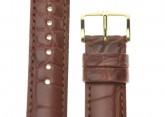 Hirsch 'Genuine Alligator' 20mm Golden Brown Leather Strap