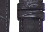 Hirsch 'Duke' Black Long Leather Strap, 20mm