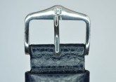 Hirsch 'Dakota' M 18mm Blue Leather Strap