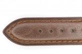 Hirsch 'Camelgrain' L 20mm Brown Leather Strap