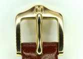 Hirsch 'Osiris' Middle Brown Leather Strap, 16mm