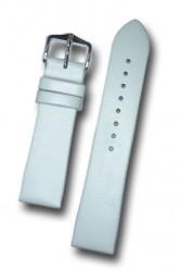Hirsch 'Italocalf' White ,M,  Leather Strap, 18mm