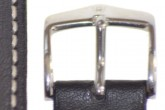 Hirsch 'Heavy Calf' 18mm Black Leather Strap
