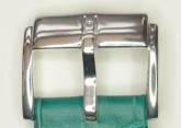 Hirsch 'Princess'  Teal Leather Strap, 18mm