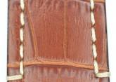 Hirsch 'Knight' 28mm Golden brown leather strap