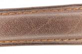 Hirsch 'Camelgrain' L 17mm Brown Leather Strap