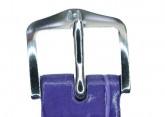 Hirsch 'LouisianaLook' M Violet Leather Strap, 16mm