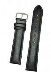 Hirsch 'Forest' L 18mm Black Soft Calfskin Leather Strap