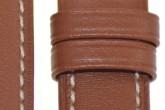 Hirsch 'Heavy Calf' 18mm  Golden Brown Leather Strap