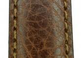Hirsch 'Forest' L 18mm Brown Soft Calfskin Leather Strap