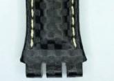 Hirsch Caracas, Watch Strap for Swatch Chronos in Black, 19 mm, Steel Buckle