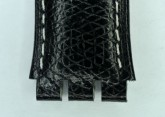 Hirsch Mel, Watch Strap for Swatch Gents in Black, 16mm, Plastic Buckle