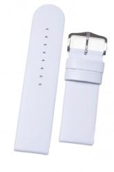 Hirsch 'Scandic' White Leather Watch Strap 28mm